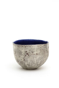 Yasushi Fujihira, 'Tea bowl with silver and lapis glaze', 2018