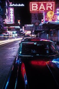 Greg Girard, 'Neon and Black Jaguar, Tsimshatsui, ', 1975