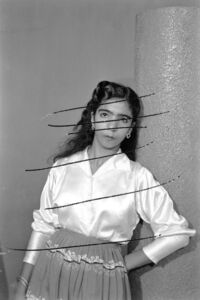 "Akram Zaatari, 'Damage Negatives: Scratched Portrait of an anonymus woman. From the series ""Photographic phenomena""', 2012"