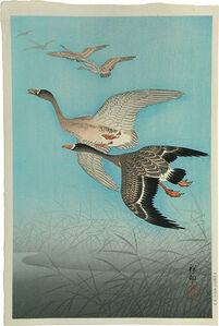 Ohara Koson, 'Wild Geese (Gan)', ca. 1926