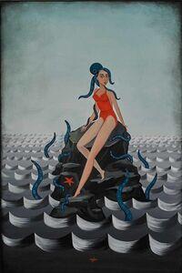 Anne Faith Nicholls, 'Girl with Octopus on Rocks', 2015
