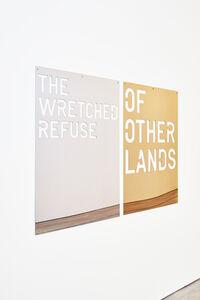 Rirkrit Tiravanija, 'Untitled, 2018 (the wretched refuse /of other lands)', 2018