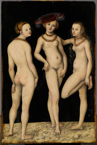 Lucas Cranach the Elder, 'Les Trois Grâces (The Three Graces)', 1531