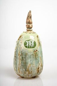 Taxile Doat, 'Putti Medallion Gourd', 1903