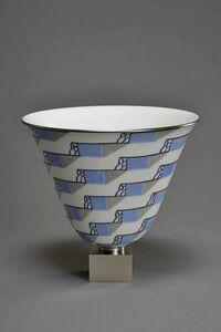 Sèvres Porcelain Manufactory, 'Ruhlmann N°3 Vase (decor of Dr.N.Priet 128-31)', 1931