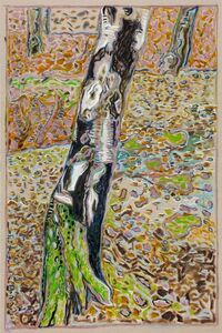 Billy Childish, 'Birch with Moss', 2016