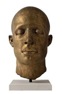James Mathison, 'Cabeza Ojos Cerrados I Texto', 2014