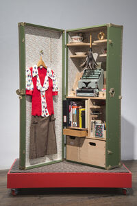 Christine Hill, 'Reception Portable Office from Home Office Trunk Show', 2003