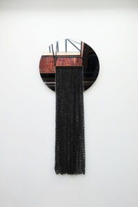 Eny Lee Parker, 'Circle Mirror with Black Chainmail', 2018