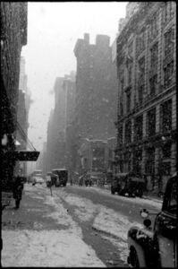 David Vestal, 'West 22nd Street, Falling Snow, NYC', 1958