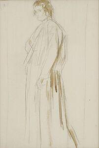 Augustus Edwin John, 'STUDY OF A STANDING WOMAN'