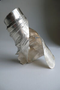 Tabor and Villalobos, 'Fused Plates Spiral Cuff', 2012