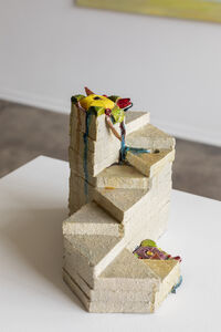 Nancy Pletos, 'Garden Path (clock-counter yellow-violet)', 1981