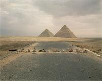 Road Blockade and Pyramids
