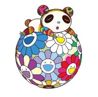 Takashi Murakami, 'Panda sleeping on the flower ball', 2020