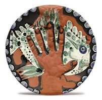 Pablo Picasso, 'Pablo Picasso Madoura Ceramic Cup - Hands with Fish Ramié 215', 1953