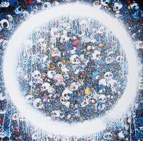 Takashi Murakami, 'Enso: Momento Mori Red on Blue', 2015