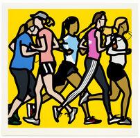 Julian Opie, 'Running women.', 2016