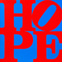 Robert Indiana, 'HOPE (red, blue)', 2015