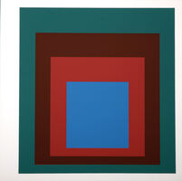 Josef Albers, 'Homage to the Square : Als Wechselwirkung der Farbe (F)', 1977