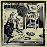 Shepard Fairey (OBEY), 'C'mon Everybody', 2014