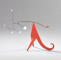 Alexander Calder, 'Curly Brass, Curly Red', 1964