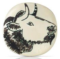 Pablo Picasso, 'Pablo Picasso Madoura Ceramic Plate, 'Profil de taureau', Ramié 315', 1956