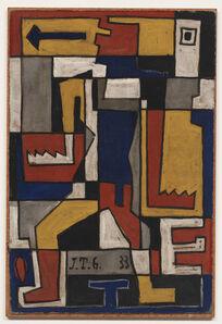 Joaquín Torres-García, 'Formas trabadas con figura humana', 1933