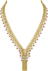 Van Cleef and Arpels, 'Fermeture éclair necklace transformable into a bracelet, Heritage Collection', 1951