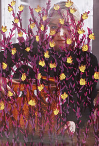 Michael De Feo, ''Untitled' (Jennifer Lawrence by Mario Sorrenti for Dior, Purple & Yellow)', 2016