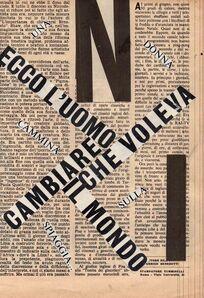 Nanni Balestrini, 'Ecco l'uomo ', 1962