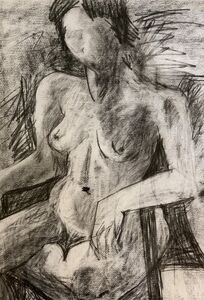 Mindy Weisel, 'Seated female nude', 1978