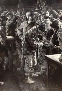 Anton Otto Fischer, 'Lynching at the Trading Post, Cosmopolitan Magazine', 1910