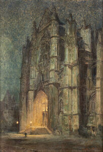 Colin Campbell Cooper, 'Beauvais Cathedral', 1934