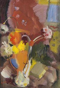Ivon Hitchens, 'Flowers red & gold', ca. 1940s