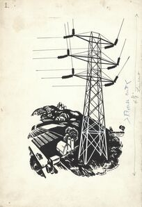 Louis Lozowick, 'The High Wires. (Untitled.)', ca. 1930