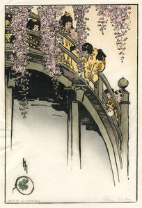 Helen Hyde, 'Moon Bridge at Kameido', 1914