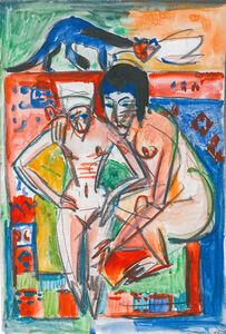 Ernst Ludwig Kirchner, 'Femme nue et fille (probablement Anna Müller)', ca. 1925