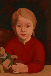 "Kurt Schütze, '""Child With Doll""', ca. 1928"