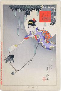 Miyagawa Shuntei, 'Pleasures of the World: Catching Fireflies', ca. 1897