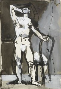 Keith Vaughan, 'Man with a Chair', 1952-1953