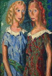 Alfred H. Maurer, 'Two Girls', ca. 1925