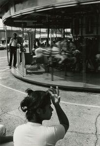 Louis Draper, 'Woman and Carousel, Coney Island', 1976