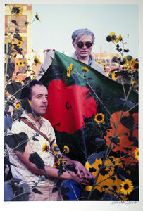 William John Kennedy, 'Andy Warhol and Taylor Mead with Flowers ', 1964