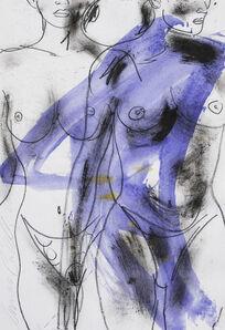 Luciano Castelli, 'Zwei Akte violett', 2000