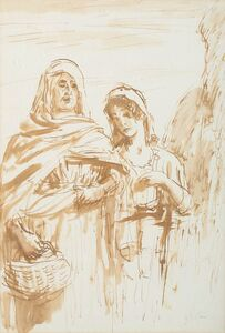 Augustus John, 'Two women'