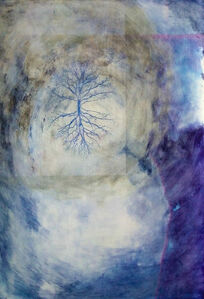 Angelica Bergamini, 'Painting of tree: 'As above, so below'', 2009