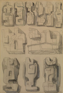 Henry Moore, ' Square Forms - Eleven studies for sculptures', 1936
