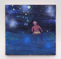 Katherine Bradford, 'Swimmer Green Moon', 2016