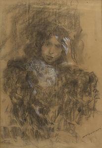 Antonio Mancini, 'Figure of a girl'